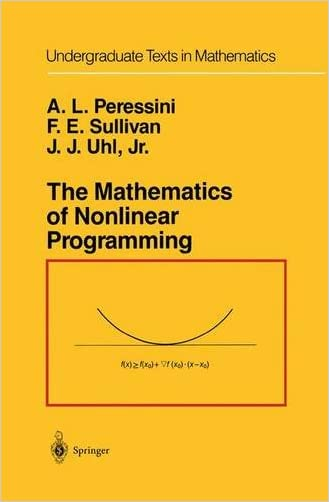 The Mathematics of Nonlinear Programming (Undergraduate Texts in Mathematics)