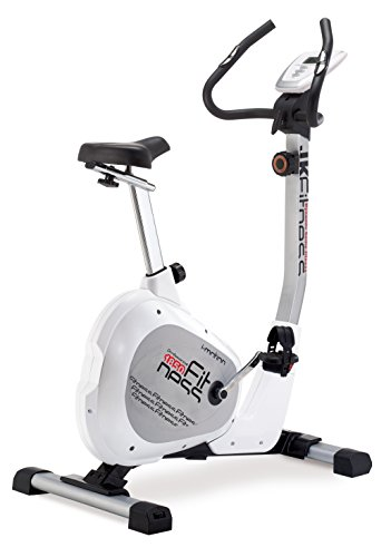 JK Fitness Professional  Cyclette Magnetica, Bianco/Argento