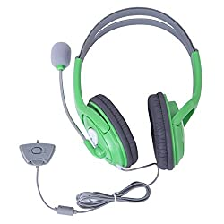 HDE Gaming Headset with Microphone for Xbox 360 Live (Green)