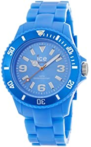 ICE-Watch - Montre Mixte - Quartz Analogique - Ice-Solid - Blue - Unisex - Cadran Bleu - Bracelet Plastique Bleu - SD.BE.U.P.12