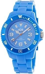 ICE-Watch - Montre Mixte - Quartz Analogique - Ice-Solid - Blue - Unisex - Cadran Bleu - Bracelet Plastique Bleu - SD.BE.U.P.12