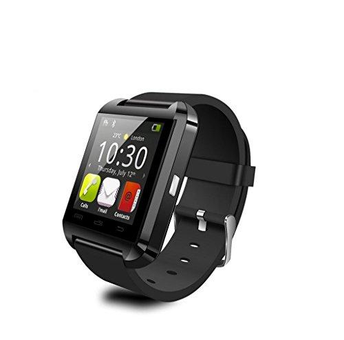 Steily Bluetooth Smart Wristwatch for Smartphones IOS Andriod (Black)