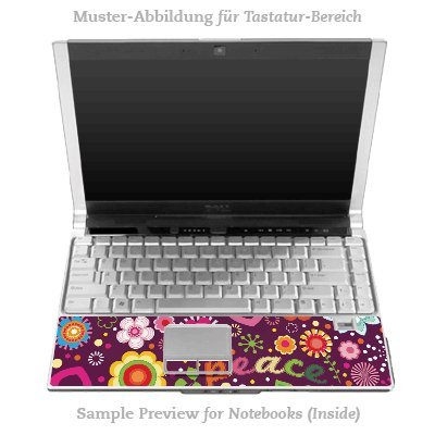 Design Skins für HP EliteBook 2530p Tastatur (Inlay) - 60s Love Design Folie