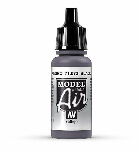 Vallejo Black Metal Paint, 17ml