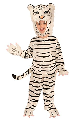 Child Plush White Tiger Costume - Toddler