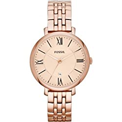 Fossil Analog Gold Dial Womens Watch - ES3435