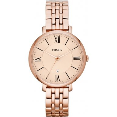 Fossil ES3435 Ladies Jacqueline Rose Gold Tone Steel Bracelet Watch