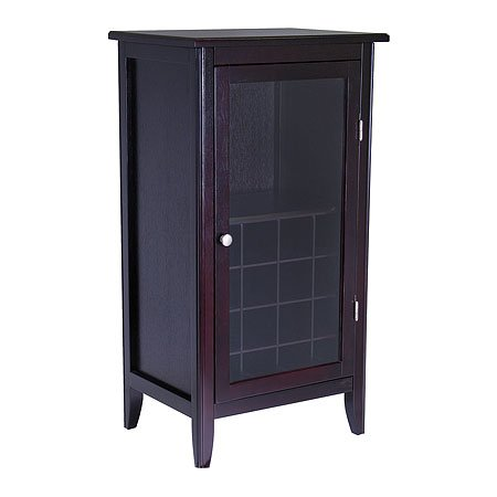 Sixteen Bottle Wine Cabinet With Glass Door
