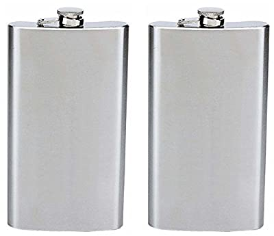 Maxam 12oz Stainless Steel Hip Flask W/ Hinged Cap