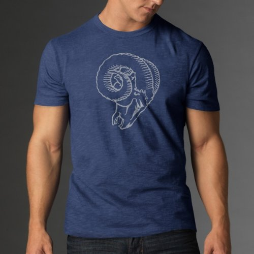 Nfl St. Louis Rams Men'S '47 Brand Scrum Basic Tee, Bleacher Blue, Small front-847886