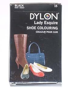 Dylon 2100310101 Leather Shoe DYE BLACK NOIR 50ml