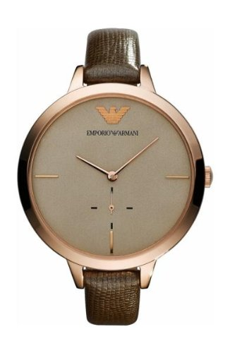Emporio Armani Oversized Leather Ladies Watch Ar7306