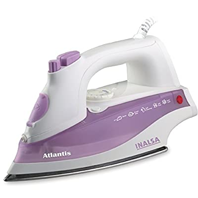 Inalsa Atlantis 1400-Watt Steam Iron (White and Purple)