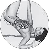 """Bettie Page - Hanging (Leopard Suit) - 1 1/2"""" Button / Pin"""