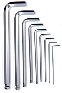 Powerbuilt 640082 Metric Hex Wrench Set, 9-Piece