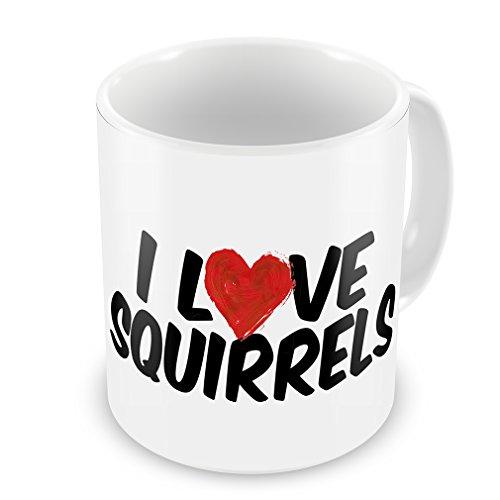 Coffee Mug I Love Squirrels - Neonblond