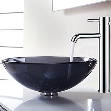 zeitgen ssische transparente runde waschbecken mit wasserablauf badezimmer badezimmer wasserhahn. Black Bedroom Furniture Sets. Home Design Ideas