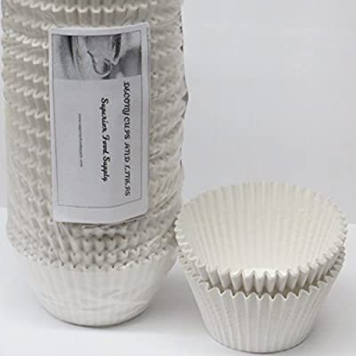 White Jumbo 6'' Cupcake muffin baking cup Liners appx. 500 pc.