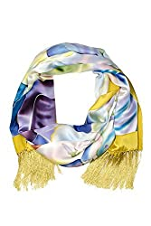 Silk Evening Shawl Wrap for Women - Yosemite Facets - Shawl Wrap for Evening Gowns Elegant Formal Dress Scarves Shawls Tassels Fringe Scarf Mothers Day Gifts Presents Gift Ideas Women Wife Mom Mother from Daughter Son Something Special Me Mom Birthday Gifts Women Her Gift Ideas Wife AS0005-MTC-U