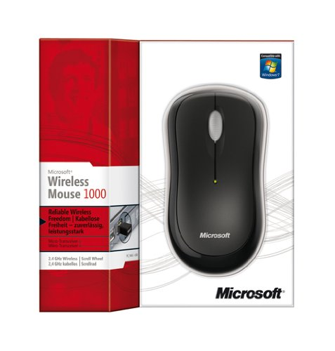 MS Wireless Mouse 1000 black (ML)