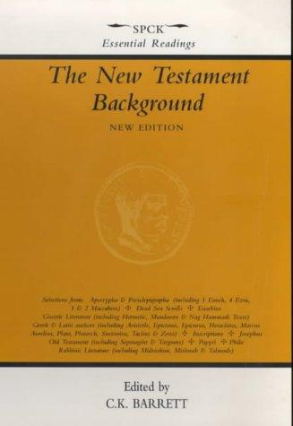 The New Testament Background, C. K. Barrett