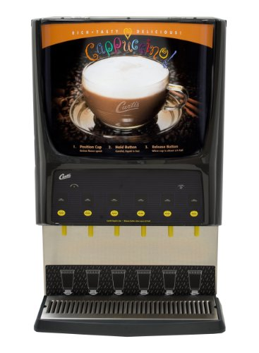 Wilbur Curtis G3 System 6 Station Cappuccino, (Two 3 Lb, Three 5 Lb And One 10 Lb Hopper), Lift Door, Inside Display - Commercial Cappuccino Machine - PCGT6300 (Each)