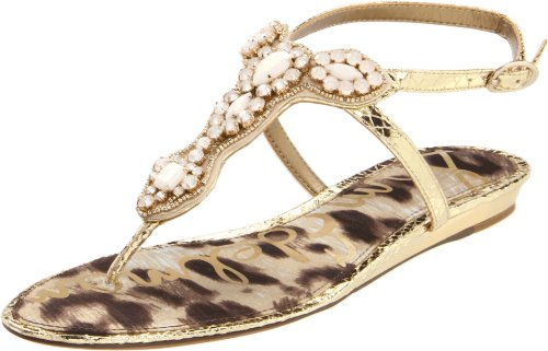 Sam Edelman Women's Ross,Gold Snake Print,8.5 M US