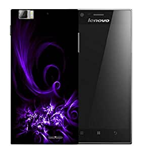 Snoogg Abstract Purple Pattern Designer Protective Back Case Cover For LENOVO K900