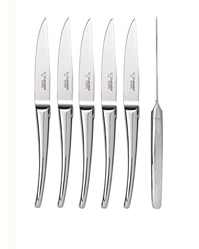 Laguiole en Aubrac Set of 6 Monobloc Steak Knives, Steel