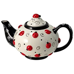 Http Www Amazon Com Ladybug Swirls Teapot Kitchen Decor Dp B0016cwuo0