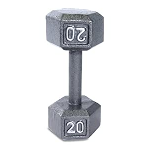 Cap Barbell Solid Hex Single Dumbbell (20-Pound)