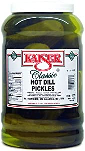 Kaiser Hot Dill Pickles - 14-16 Pickles in a One Gallon Container by Kaiser