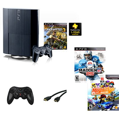 PlayStation 3 250GB Console Gaming Bundle with 3 Video Games