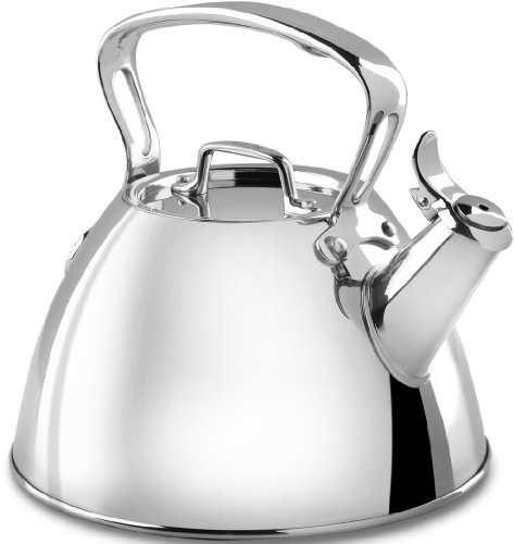 All-Clad E86199 Stainless Steel Specialty Cookware Tea Kettle, 2-Quart, Silver (All Clad Stainless Kettle compare prices)