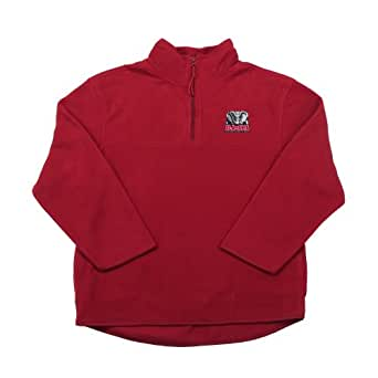 Antigua Alabama Youth 3/4 Zip Long Sleeve Pullover (X-Large, Cabernet)