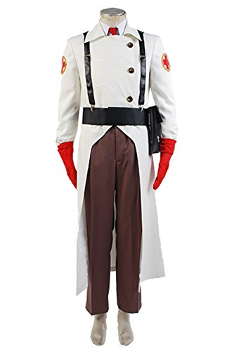 Ya-cos Team Fortress II 2 Medic Suit Outfit Uniform Cosplay Costume Full Set
