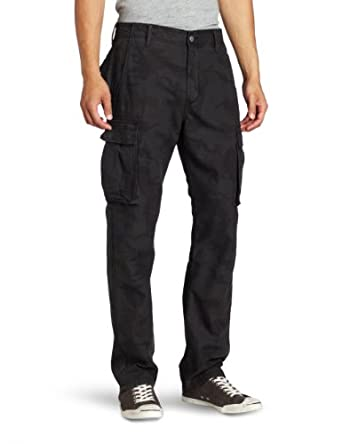 Levi's Men's 569 Loose Cargo Pant, Black Camo, 28x30