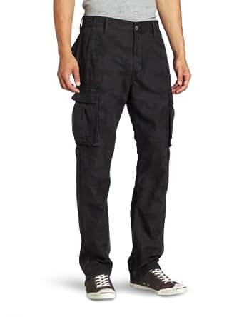 Levi's Men's 569 Loose Cargo Pant, Black Camo, 28x30