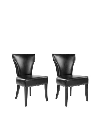 Safavieh Set of 2 Jappic Side Chairs, Black