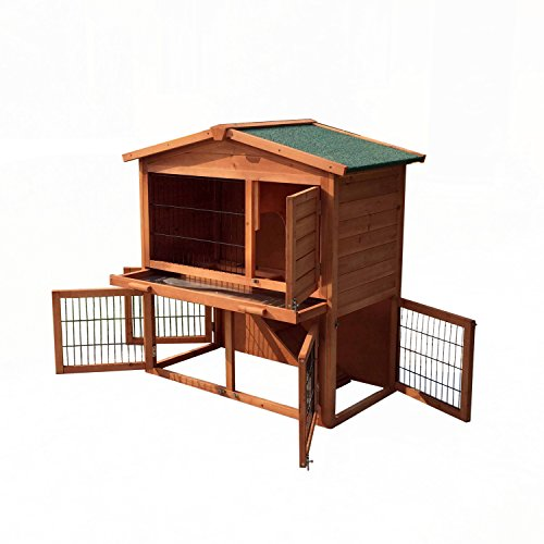 ALEKO-Wooden-Pet-House-Poultry-Hutch-Rabbits-Chickens-Hen-Coop-Wooden-Cage-Roof-Access