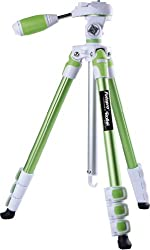 Fotopro S3 Sporty & Fashionable Green Color Tripod For DSLR Cameras 3-Way Head