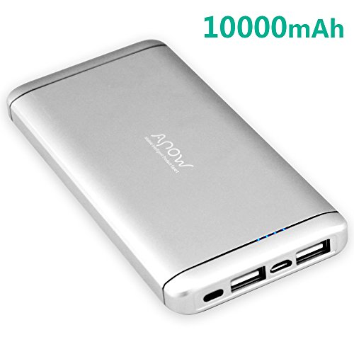 Power Bank,APOW Dual USB 10000mAh Portable Charger Fast Charging, Dual USB Port External Battery Charger for iPhone, iPad, Samsung Galaxy, Smart Phone,tablet(silver) at Electronic-Readers.com