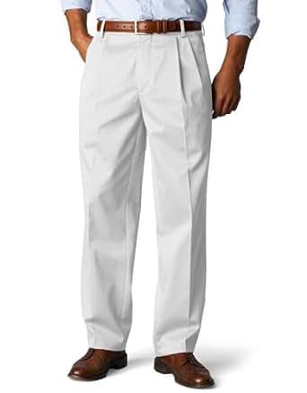 Dockers Men's Signature Khaki D3 Classic Fit Pleated Pant,White,42X34