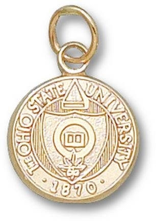 Ohio State Buckeyes Seal 1 2 Charm - 14KT Gold Jewelry by Logo Art
