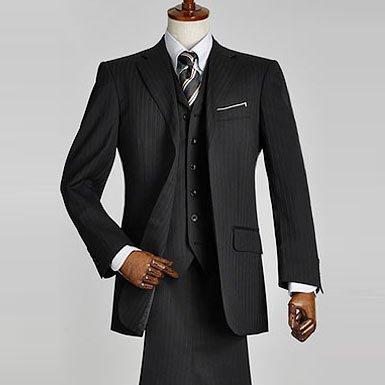 【Theo Dre】ブリティッシュ 半段返り 3ツボタン スリーピース スーツ(メンズ ベスト付 総裏仕立て):YA-M(5号)(AB03114197Z-12-YA5)