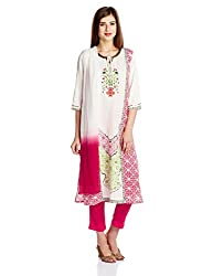 Aurelia Women's Straight Salwar Suit (16FED10417-61034_Pink_Small)