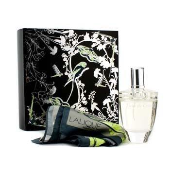 Lalique Fleur De Cristal Set Contiene Eau de Parfum e scialle
