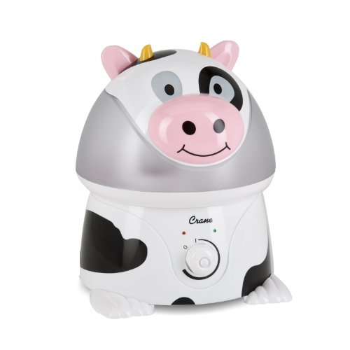 Crane Adorable Ultrasonic Cool Mist Humidifier with 2.1 Gallon Output per Day – Cow
