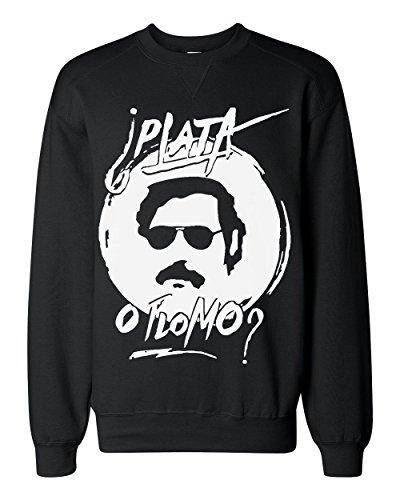 pablo-escobar-plata-o-plomo-classic-sweatshirt-large