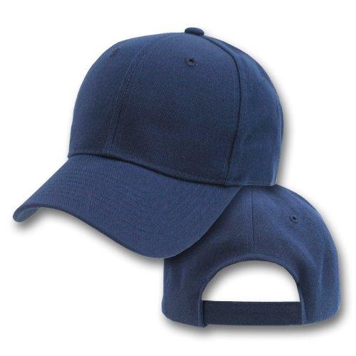 Blank / Plain Adjustable Velcro Baseball Cap / Hat   Navy Blue